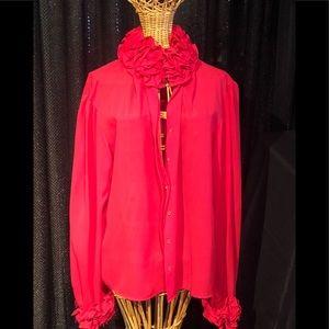 I magnin Chiffone blouse